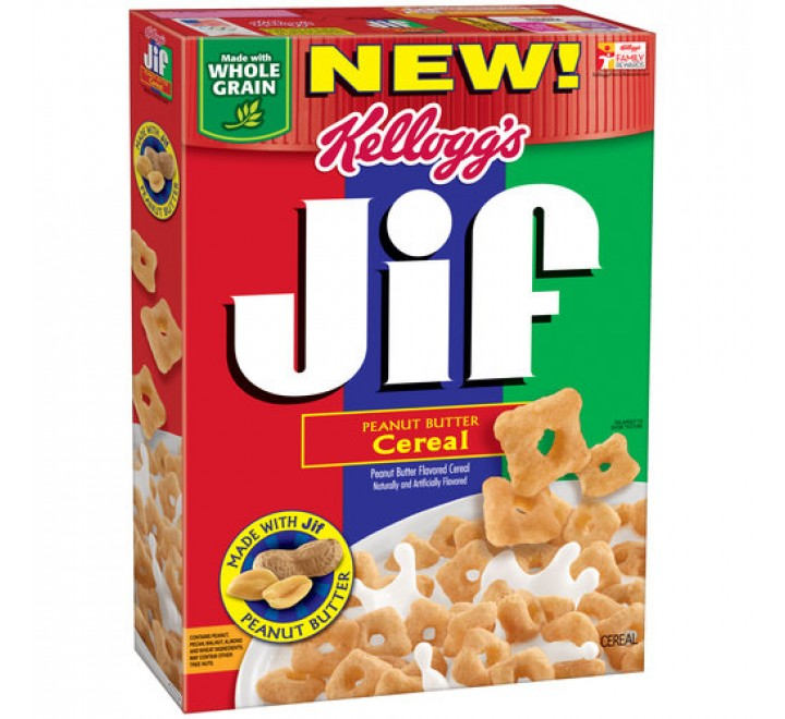 Kellogg's JIF Peanut Butter Cereal (258g)