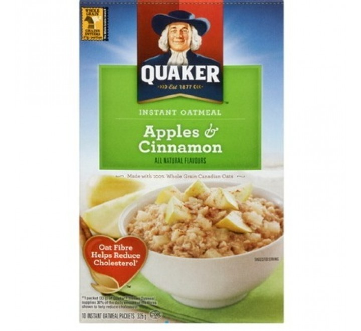 Quaker Instant Oatmeal Apples & Cinnamon (430g)
