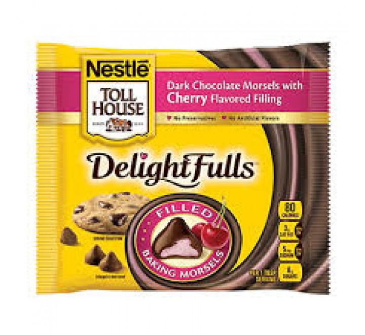 Nestle Toll House DelightFulls Dark Chocolate with Cherry Flavored Filling Baking Morsels (235g)
