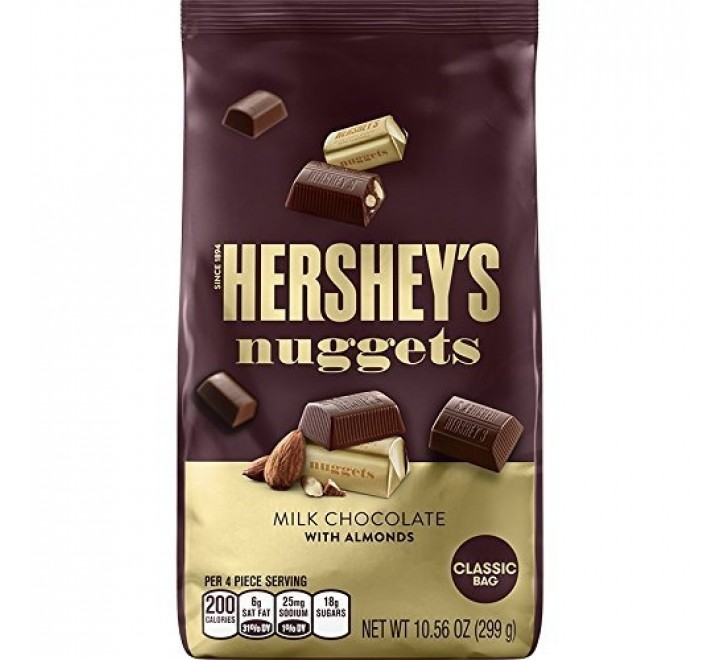 Hershey's Nuggets, Milk Chocolate with Almonds Classic Bag (299g)