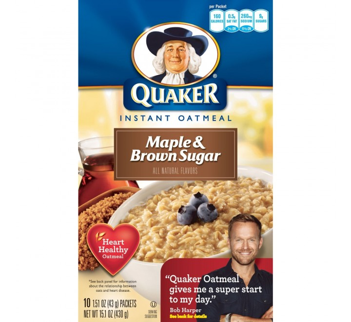 Quaker Instant Oatmeal Maple Brown Sugar (430g)