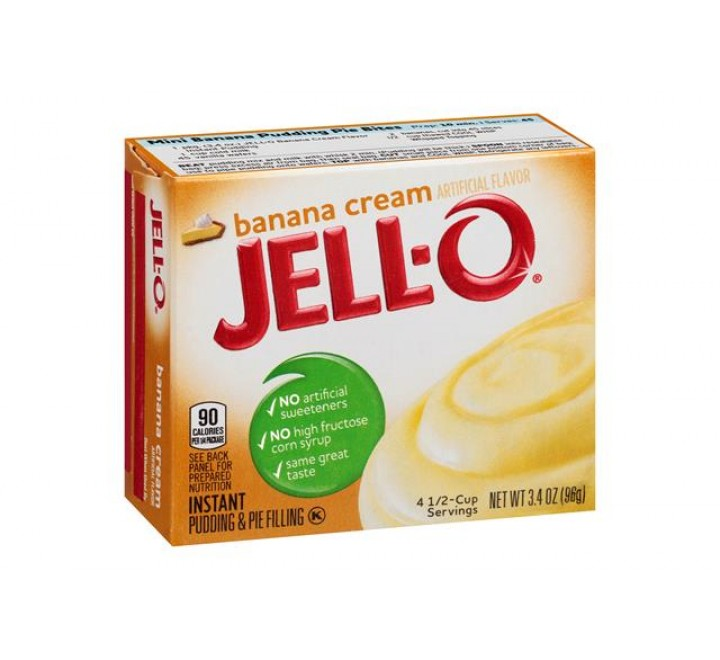 Jell-O Banana Cream Instant Pudding & Pie Filling (96g) USfoodz