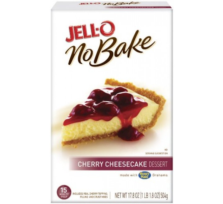 Jell-O No-Bake Cherry Cheesecake Dessert (504g)