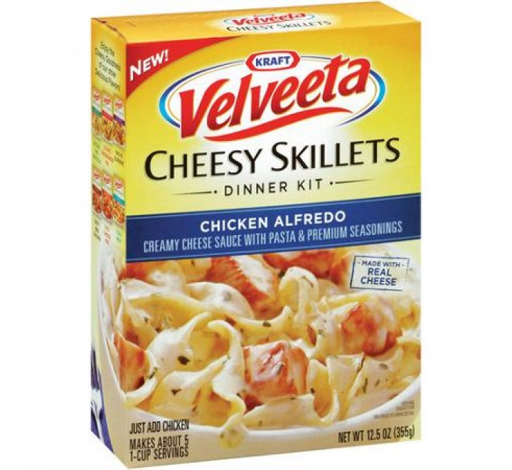 Kraft Velveeta Dinner Chicken Alfredo Cheesy Skillets (387g)