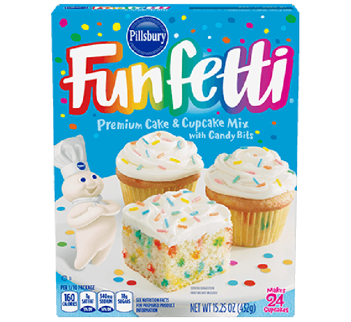 Pillsbury Happy Birthday Funfetti Premium Cake & Cupcake Mix (432g)