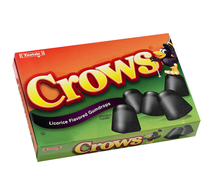 Tootsie Crows, Licorice Flavored Gumdrops (184g)