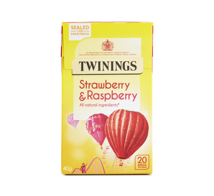 Twinings Strawberry & Raspberry Tea (20 Tea Bags) (40g)