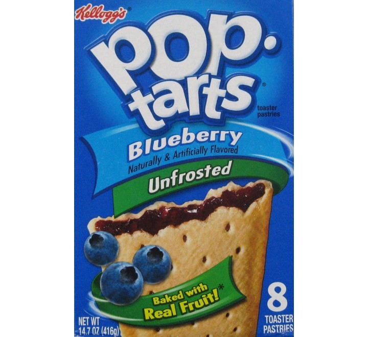 Pop-Tarts Blueberry, Unfrosted