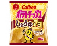 Calbee Potato Chips, Shoyu & Mayo (60g)