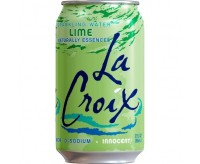 La Croix Sparkling Water, Lime (355ml)