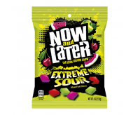 Now and Later Extreme Sour, Peg Bag (113g)