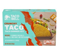 Taco Bell Crunchy Taco Dinner Kit, 12 count Box (Default)