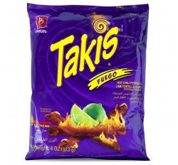 Barcel Takis Fuego Hot Chili Pepper & Lime Corn Snacks (56g)