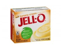 Jell-O Banana Cream, Instant Pudding & Pie Filling (96g)